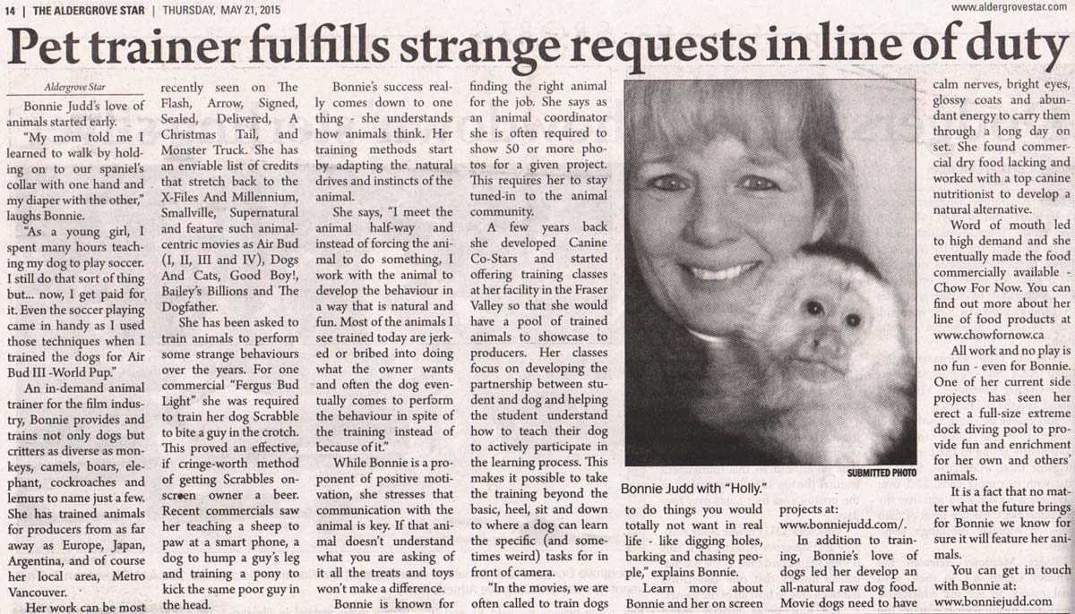 pet trainer fulfills strange requests in line of duty